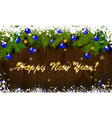 happy new year panoramic banner vector image