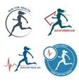 Healthy Run Emblem and Logo Set vector image vector image