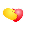 heart in hand creative colorful icon vector image