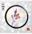 iris flowers hand drawn with ink in asian style in vector image vector image