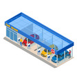 isometric car washing service innovative self vector image