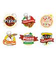 italian pizza restaurant logos vector image