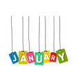 january word vector image vector image