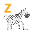 Letter Zoo alphabet English abc with animals vector image
