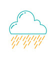 line natural cloud in the sky raining weather vector image vector image