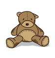Little brown teddy bear vector image