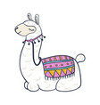 llama cartoon icon trendy colorful drawing for vector image