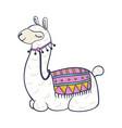llama cartoon icon trendy colorful drawing vector image