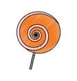 lollipop sweet candy vector image vector image