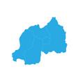 map of rwanda high detailed map - rwanda vector image vector image