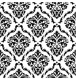 Medieval floral seamless in damask style vector image vector image