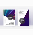 modern cover design template set rainbow abstract vector image vector image