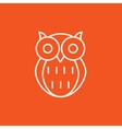 Owl line icon vector image vector image