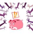 panic piggy bank vector image vector image
