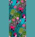 pink flower seamless pattern floral design vector image