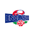 rugby ball england english rose vector image vector image