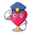 sailor police chocolate heart on ice cream cartoon vector image vector image