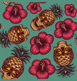 seamless color pattern on hawaiian theme vector image