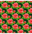 Seamless pattern with roses and leaves vector image vector image