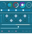 Set loading bars on a dark background vector image vector image