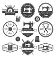 Set of vintage tailor labels vector image vector image