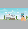 smart house smart home app vector image vector image