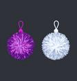 soft pompon balls vector image vector image