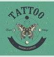 tattoo parlor poster classic and vintage tattoo vector image