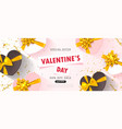 valentine s day sale backgroundromantic vector image vector image