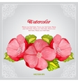 Watercolor peony invitation card with flower vector image vector image