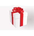 White gift box vector image