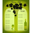 Wine list green vector image vector image