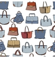 Woman bags Seamless pattern blue and brown color vector image