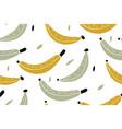 yellow bananas on a white background bananas vector image vector image