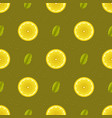yellow lemon fruits seamless pattern vector image vector image