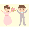 Just married vector image