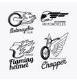 Motorcycle race logo set vector image