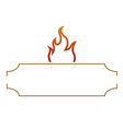 isolated barbecue label vector image