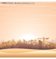 Mideast Cityscape Panorama vector image