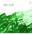 green hand paint watercolor vector image