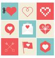 heart set icon vector image