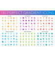 180 trendy perfect gradient icons set school vector image vector image