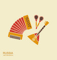 accordion spoons and balalaika russian musical vector image