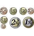 all european union euro coins vector image