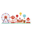 amusement park isolated on vector image vector image