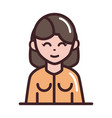 avatar woman female character portrait cartoon vector image vector image