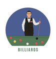 billiards player flat style vector image