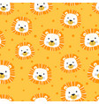 cartoon lions colorful seamless pattern vector image vector image