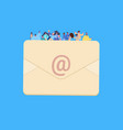 casual people group on email envelope together man vector image vector image