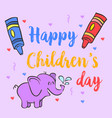 collection stock children day doodles vector image vector image